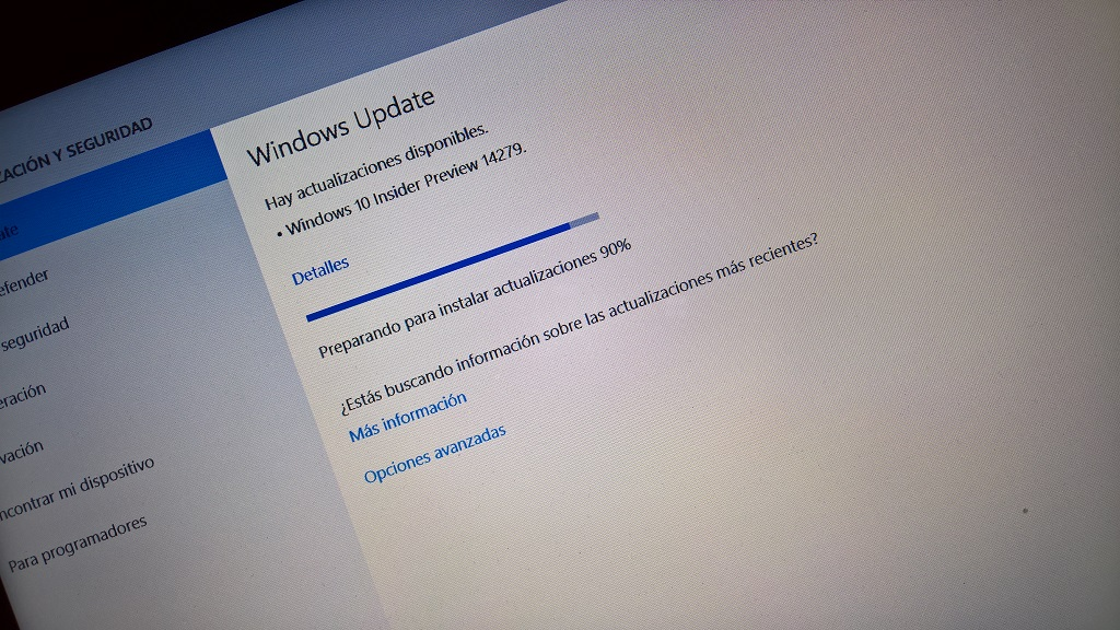 Build 14279 de Windows 10 PC