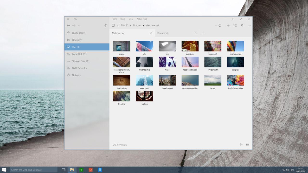 mockup explorador de archivos windows 10