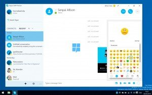 Primeras imágenes de la nueva aplicación UWP de Skype para Windows 10