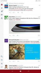 Twitter actualiza su aplicación universal con una nueva interfaz en Windows 10 Mobile y muchas mejoras