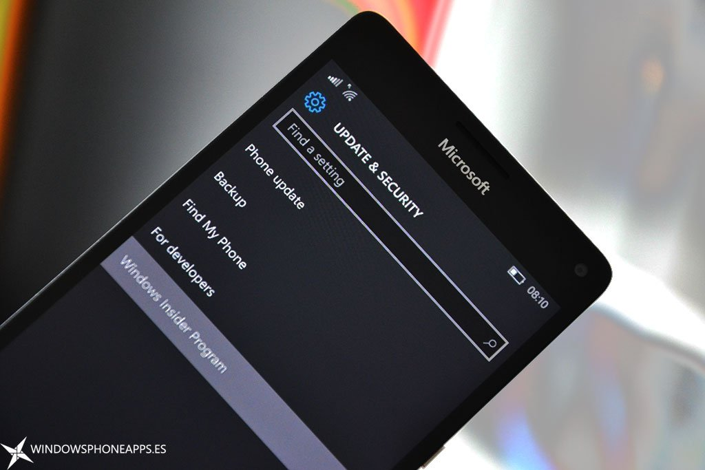 programa Insider desde Windows 10 Mobile