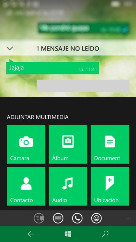 Adjuntar documentos en WhatsApp beta