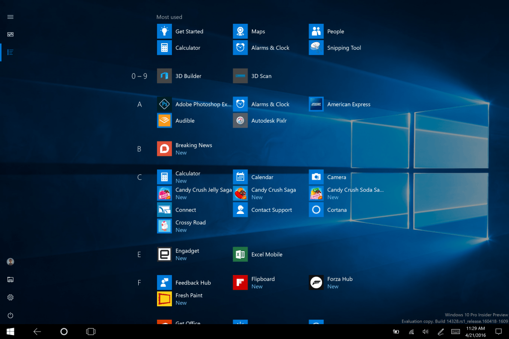 Build 14328 for PC 3