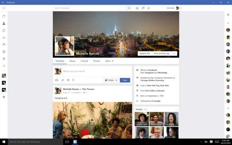 Facebook Beta para Windows 10 PC se actualiza con mejoras en la experiencia de navegación