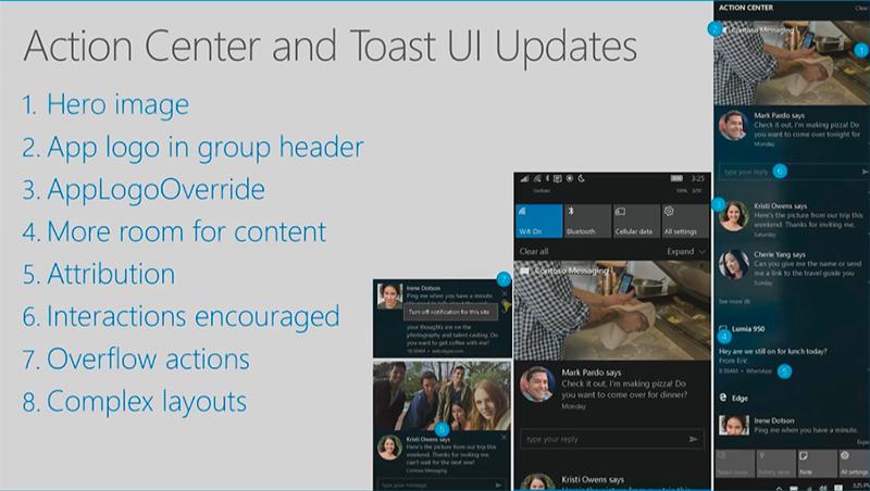 Centro de notificaciones en la actualización de aniversario de Windows 10