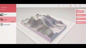 Topographic, una interesante aplicación para los propietarios de una impresora 3D