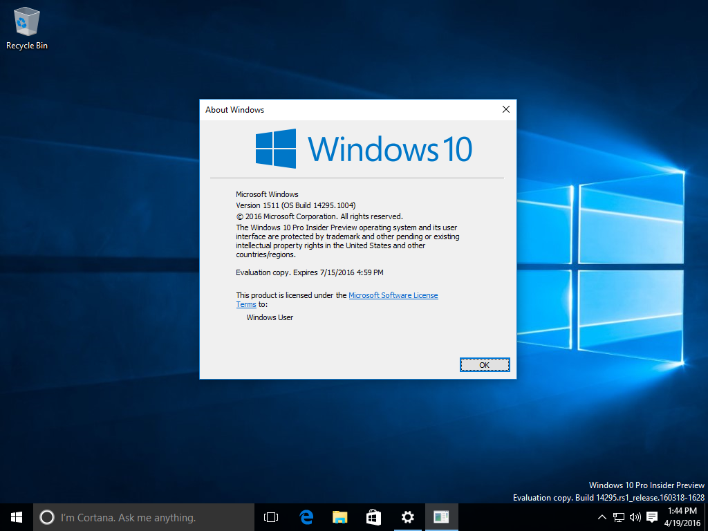 build windows 10 14295 1004