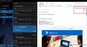 Correo de Windows 10 ya permite responder desde una ventana nueva