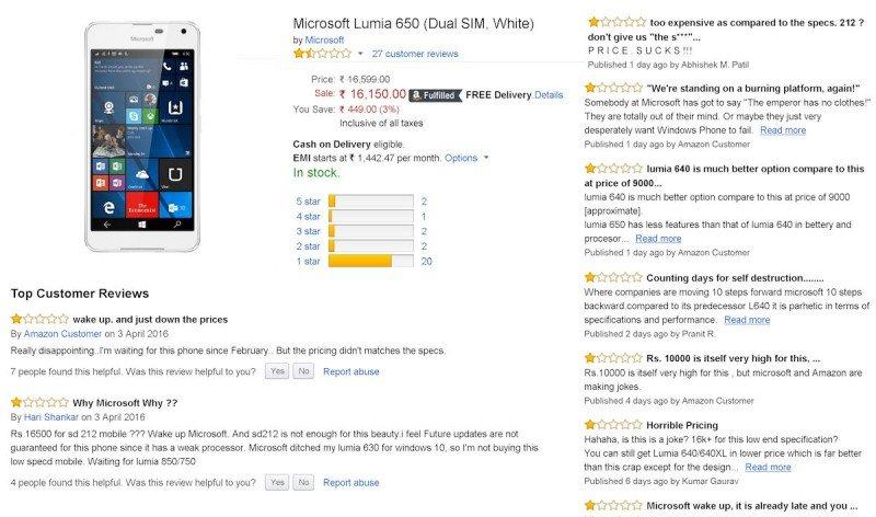 Lumia 650 Amazon India Opiniones