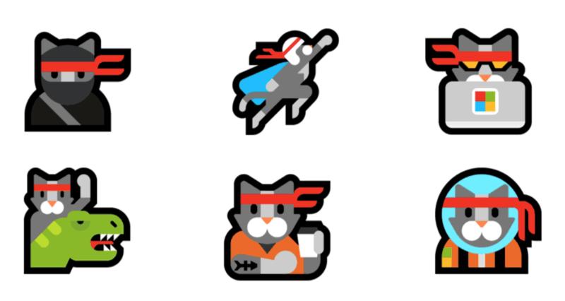ninja-cat-poses-emojipedia-windows-10