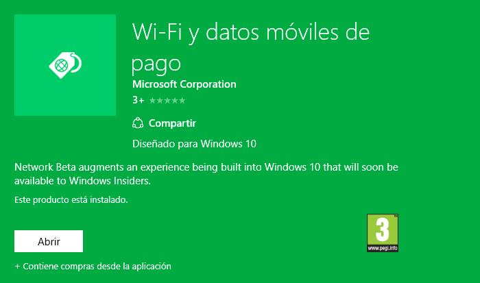 wifi y datos de pago