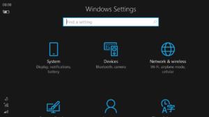 La configuración de Windows 10 Mobile tendrá pequeñas mejoras en su interfaz