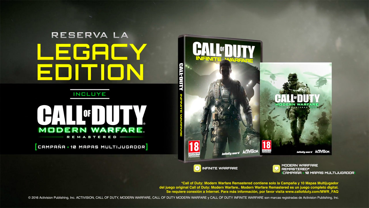 Call of Duty: Infinity Warfare y Call of Duty: Modern Warfare Remastered