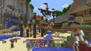 Battle, el primer minijuego que llegará a Minecraft para consolas