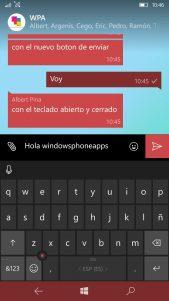 WhatsApp Beta rediseña el botón de envío de mensajes en su última actualización