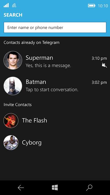 Unigram, el cliente UWP de Telegram para Windows 10, ya está en desarrollo, te mostramos los primeros bocetos