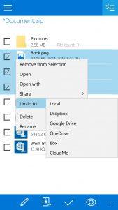 WinZip presenta su aplicación universal para Windows 10 con soporte para Cortana