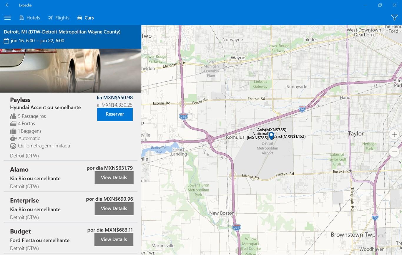 Expedia Hotels, Flights, Cars & Activities se actualiza como aplicación universal para Windows 10