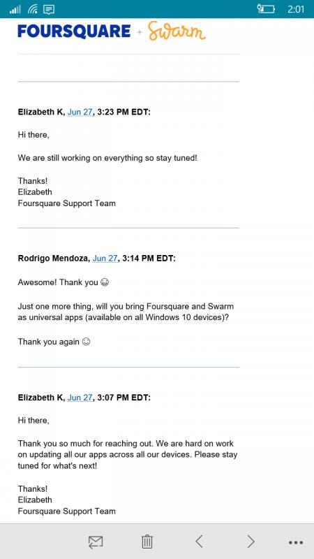 Foursquare Swarm Windows 10