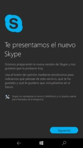 skype uwp preview-movil