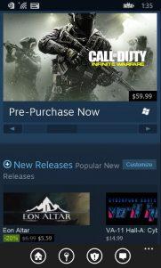 Steam ya tiene aplicación oficial para móviles Windows