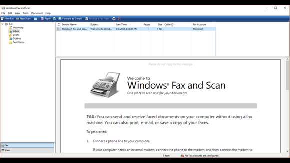 windows fax