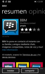BBM ya no está disponible para Windows 10 mobile