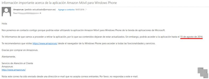 correo-amazon-fecha-de-eliminacion-aplicacion-windows-phone