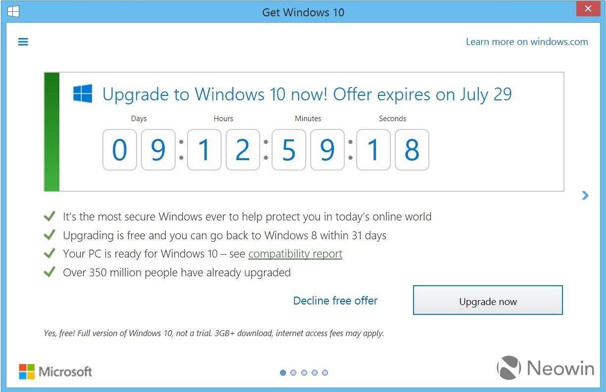 cuenta atras Windows 10
