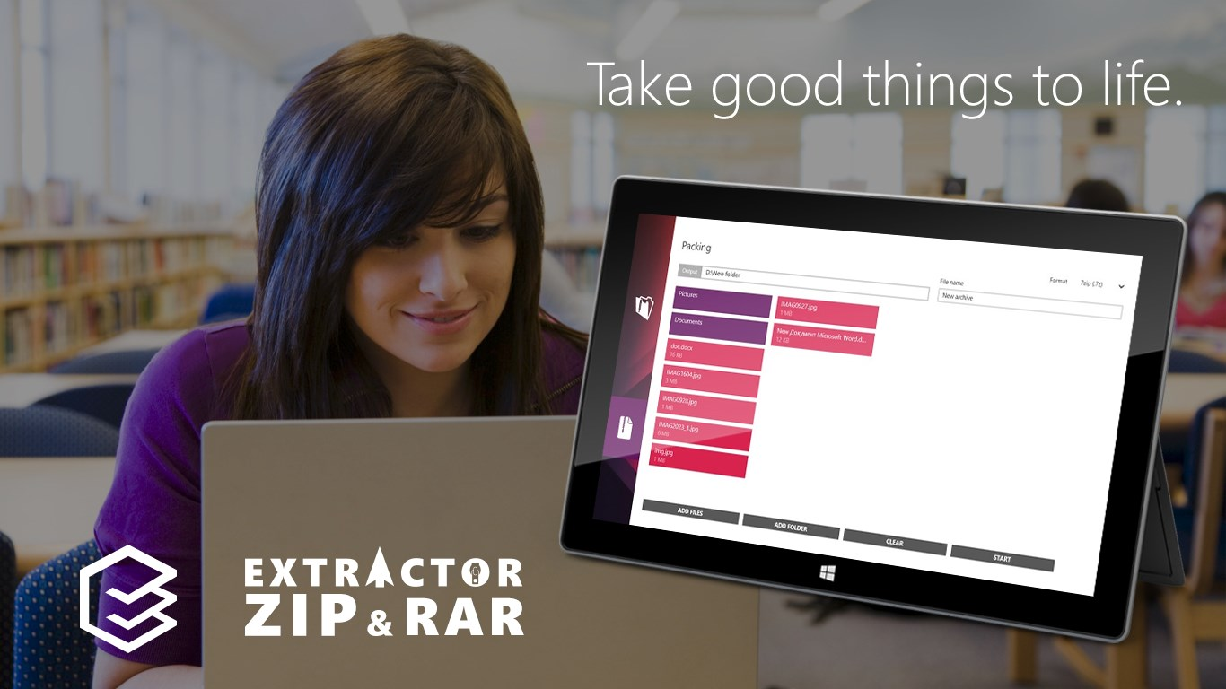 Extractor for ZIP and RAR