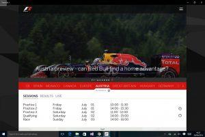 Formula 1 ya tiene aplicación oficial para Windows 10
