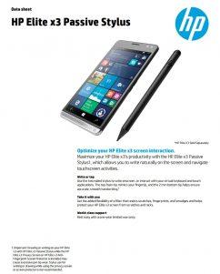El HP Elite x3 tendrá un lápiz pasivo y otros accesorios que le acompañarán