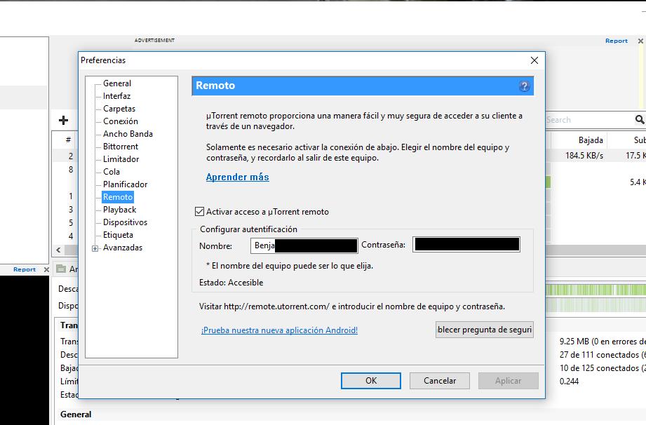 uTorrent Remote pc