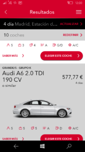 Avis Car Hire disponible para teléfonos Windows