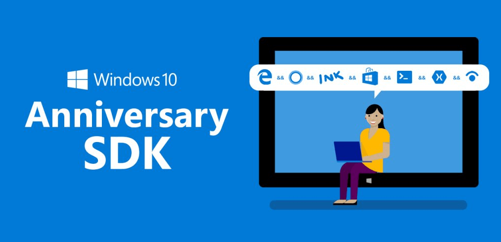 actualizacion aniversario windows 10 sdk