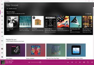 Groove Música se actualiza en el anillo rápido, ya permite editar metas y mucho más
