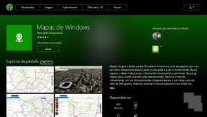 Mapas de Windows ya se muestra en la tienda de Windows en Xbox One
