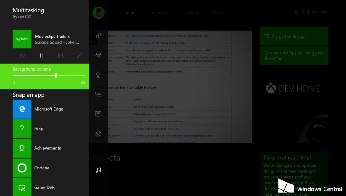 MyTube para Xbox One con audio en segundo plano, primeras imágenes de la aplicación.