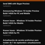 Centro de Opiniones y Office Mobile reciben actualizaciones en la versión pública de Windows 10