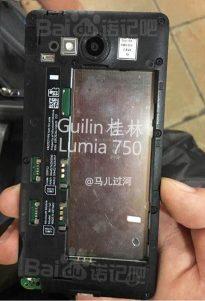 Supuestas imágenes del cancelado Lumia 750