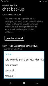 Ya se puede guardar la copia de seguridad de tus chats en OneDrive en la última actualización de WhatsApp Beta