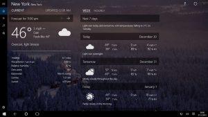 Disponible la nueva aplicación de Forecast para Windows 10