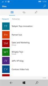 SharePoint Preview ya está disponible para Windows 10 Mobile