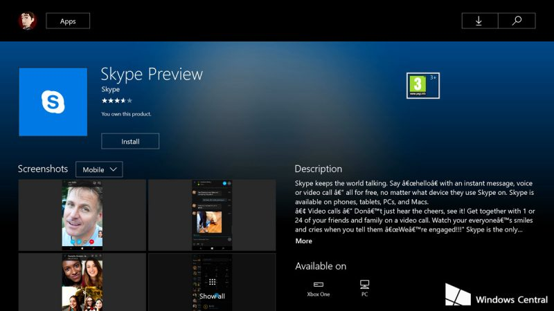 skype-preview-xbox-one