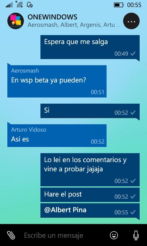 WhatsApp ya permite mención de contactos en los grupos