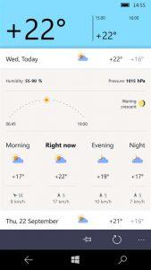 Yandex lanza su aplicación del Tiempo para Windows 10 Mobile