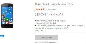 La tienda de Microsoft España sin stock en la mayoría de móviles Windows 10, Surface Studio lo mismo en USA