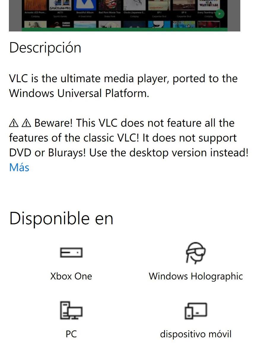 VLC para Xbox One ya ha sido enviada a la tienda para su