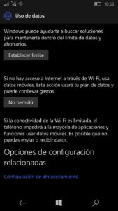 El apartado Uso de datos de Windows 10 Mobile recibe cambios estructurales
