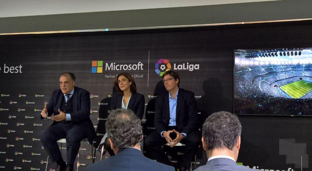 La Liga y Microsoft